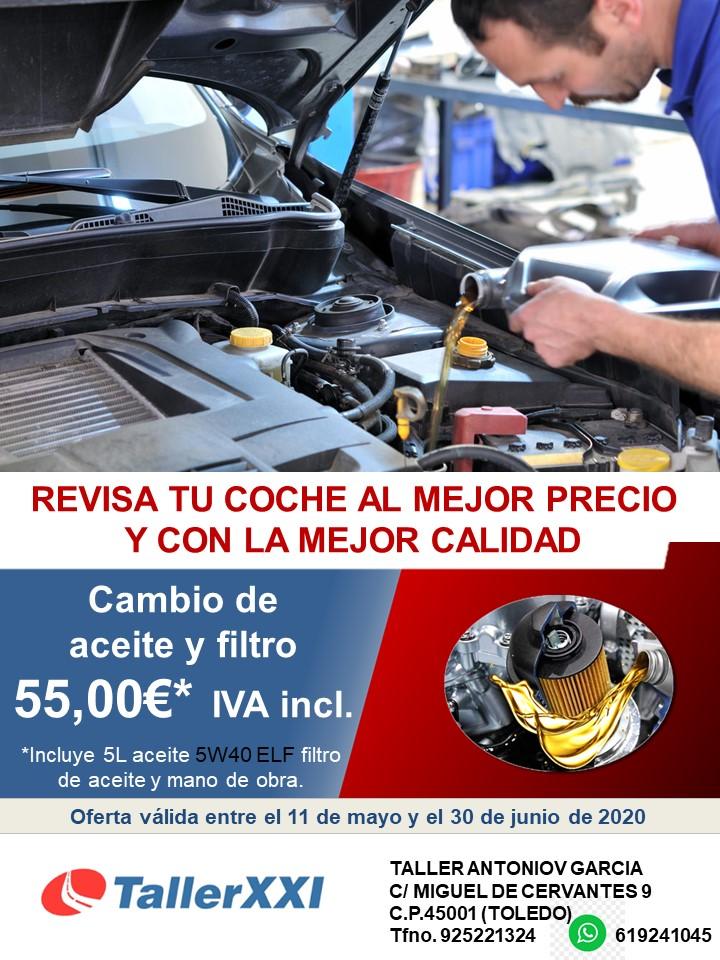 Ofertas para el cambio de aceite de tu coche