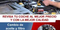 Oferta cambio de aceite en Toledo